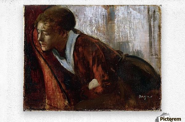 Melancholy by Degas  Metal print