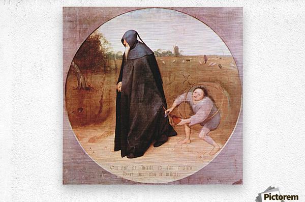 Misanthrope by Pieter Bruegel  Metal print