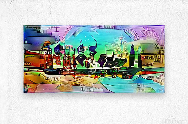 city5 ship  Metal print