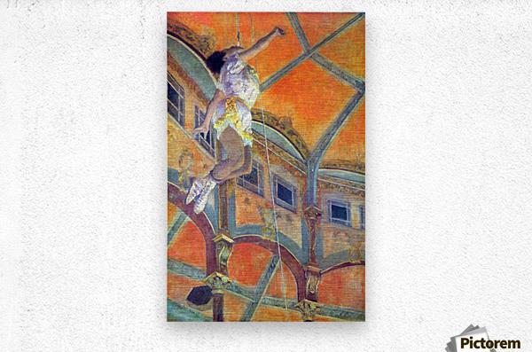 Miss Lala in Circus Fernando by Degas  Metal print