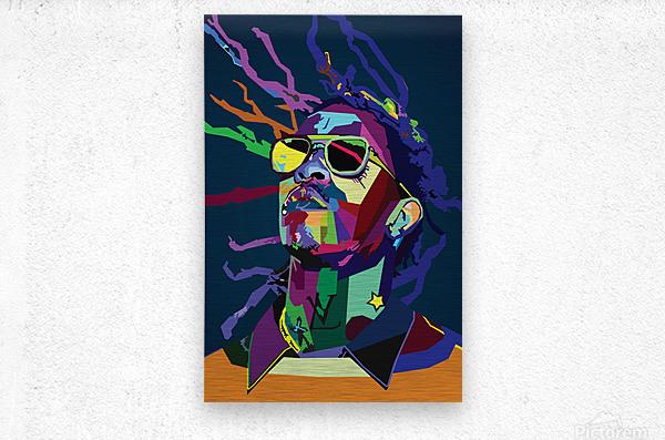 Young Thug Rapper Wpap Pop Art  Metal print