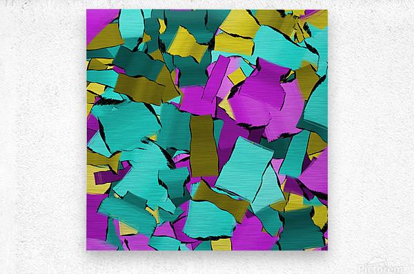 abstract flow art  Metal print