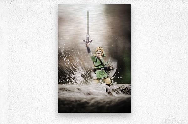 Legend of Zelda - Link in Splash  Metal print