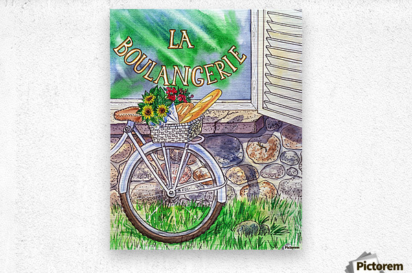 At The French Bakery   Metal print