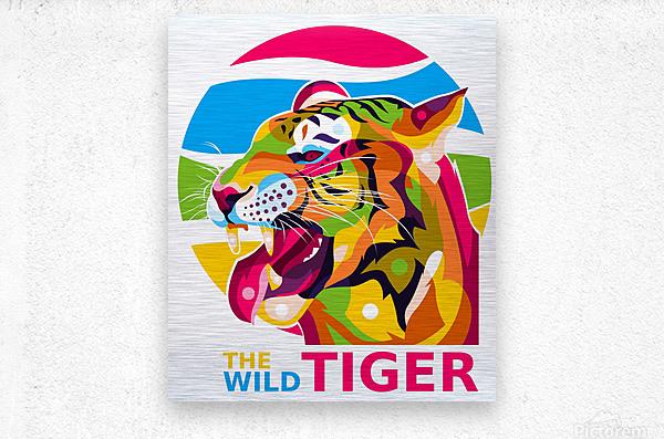 The Wild Tiger  Metal print