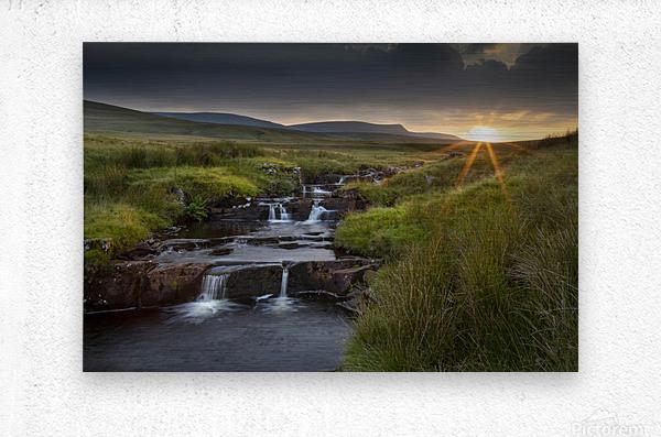 River Tawe sunset  Metal print