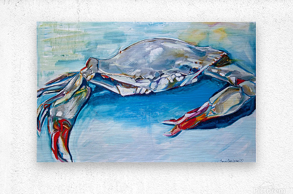 Louisiana She Soft Shell Crab  Metal print
