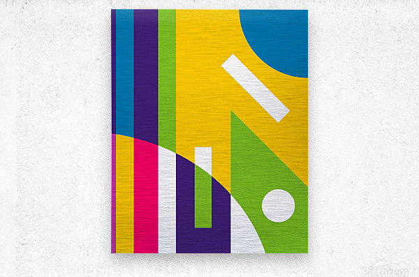 2 White Lines in Abstract Background  Metal print