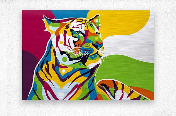 The King Tiger   Metal print