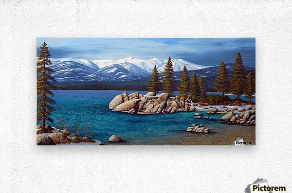 Winter At Sand Harbor Lake Tahoe  Metal print