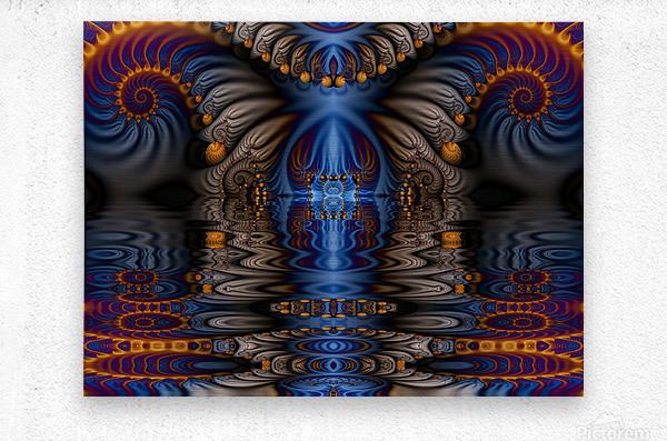 Blue Flame  Metal print