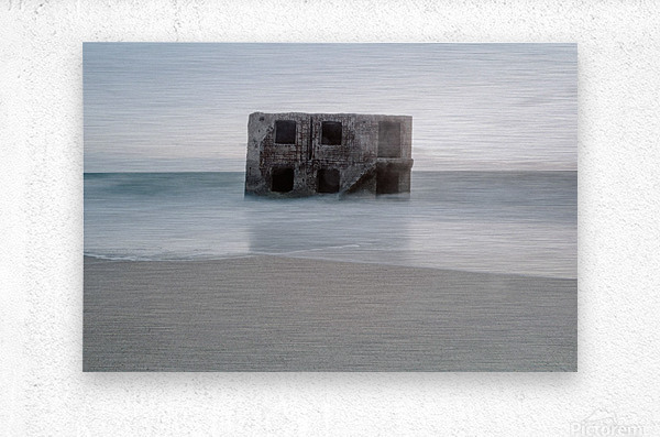 Fort in the sea  Metal print
