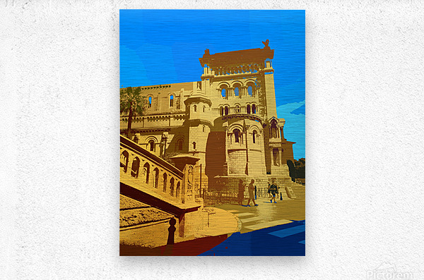 Dreams of Cannes France in Retro Behemian Style  Metal print