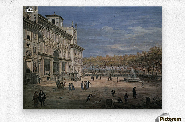 Villa Medici and garden in Rome  Metal print