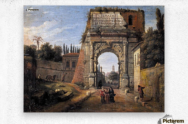 View of the Arch of Titus  Metal print