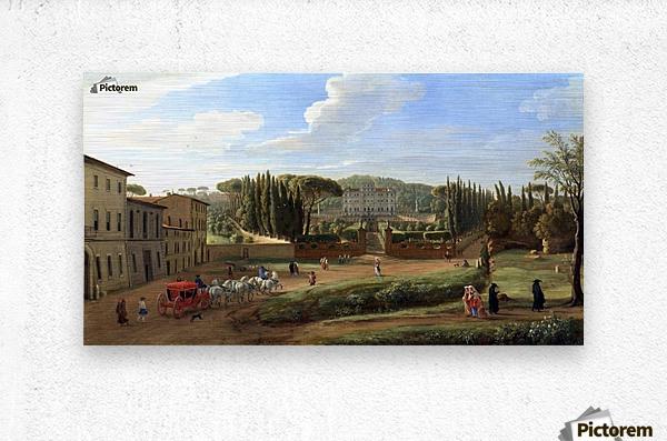 A view of the Villa Aldobrandini  Metal print