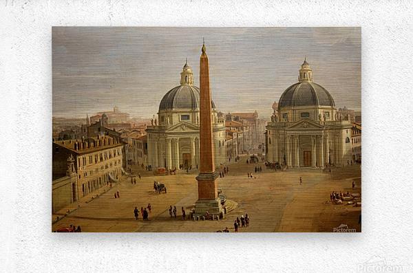 Veduta di Piazza del Popolo a Roma  Metal print