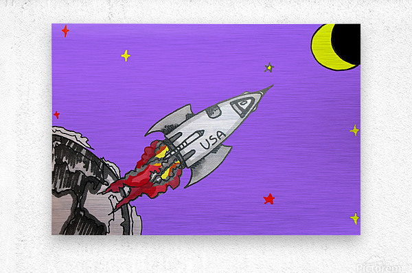 HAVE SPACE SHIP WILL TRAVEL  Metal print