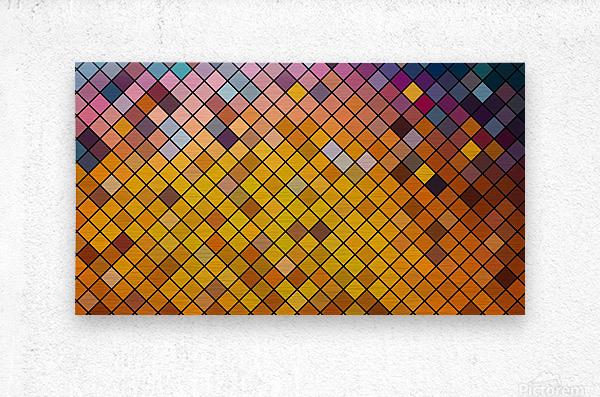Mosaic Pattern  Metal print