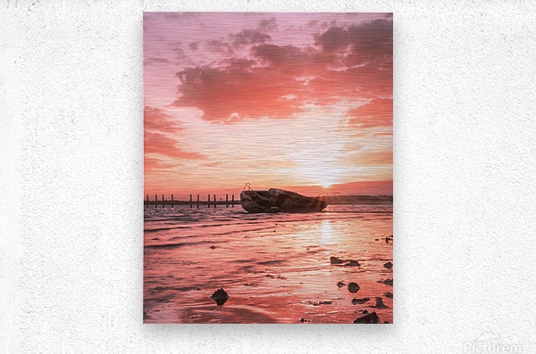 So long to what has become far gone  Metal print