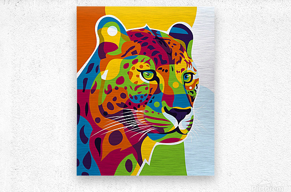 The Colorful Leopard  Metal print
