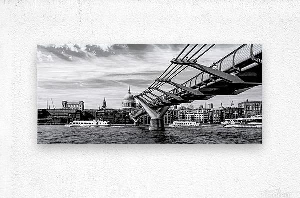 River Thames - London city skyline  Metal print