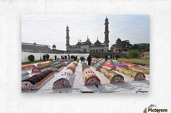 Moharram procession  Metal print