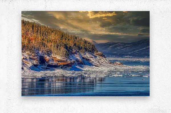 Pointe St-Pierre sous la glace  Impression metal
