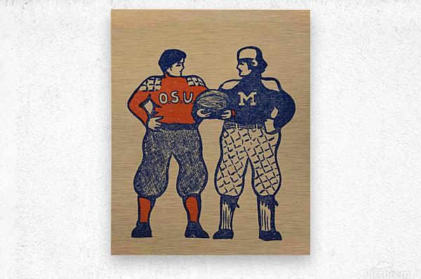 1901 Ohio State vs. Michigan  Metal print
