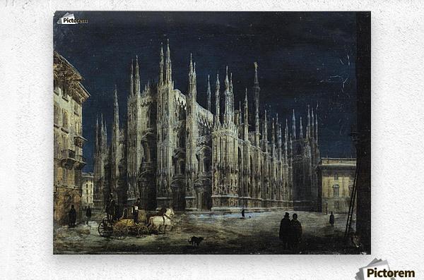 Notturno di Piazza del Duomo a Milano  Metal print