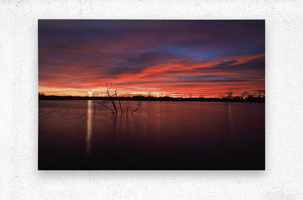 Lake Wellington Sunset  Metal print