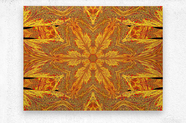 Sunshine In The Meadow Wildflower 2  Metal print