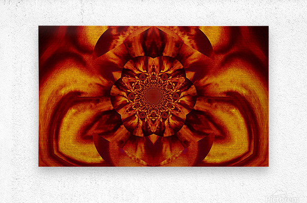 Lotus in Gold Satin  Metal print