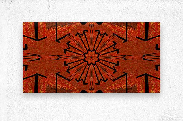 Lotus In Flames 1  Metal print