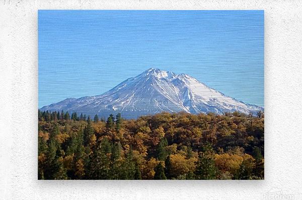 Mt Shasta in Autumn  Metal print