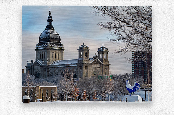 Basilica and Blue Rooster   Metal print