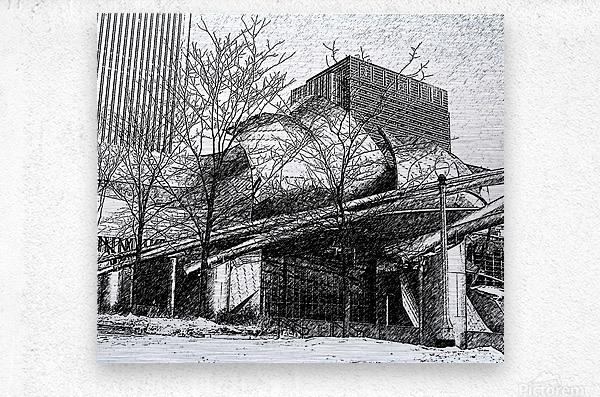 Millenium Park Chicago  Metal print