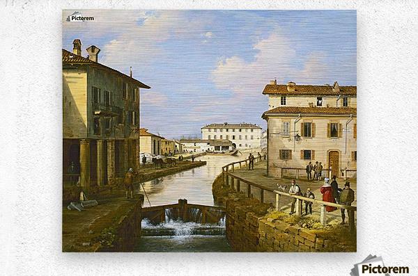 Il Naviglio dal ponte di San Marco  Metal print
