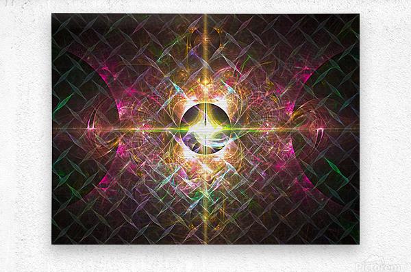 Pulse  Metal print