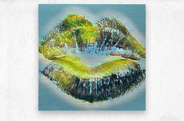 Every Kiss From you Makes My Heart Explode with Love  Metal print