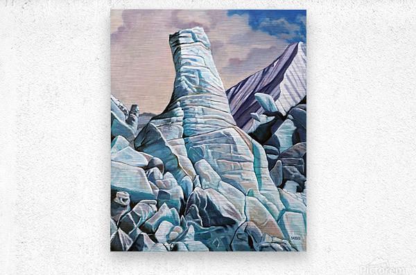 Glacier 3  Metal print