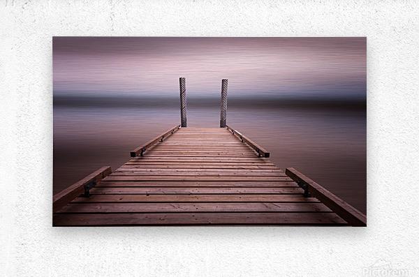 The jetty on Comox Lake  Metal print