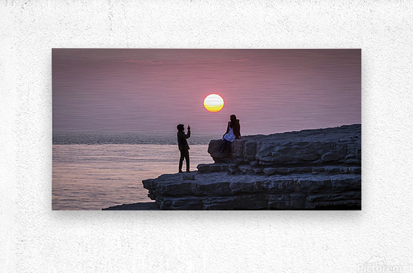 Photo opportunity at Nash Point  Metal print