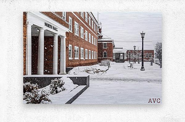 North Hall- Winter  Metal print