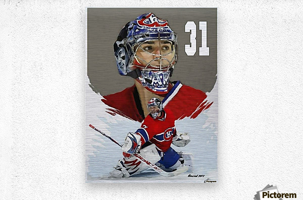 Carey Price portrait  Metal print