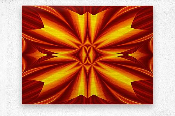 Fire Flowers 102  Metal print