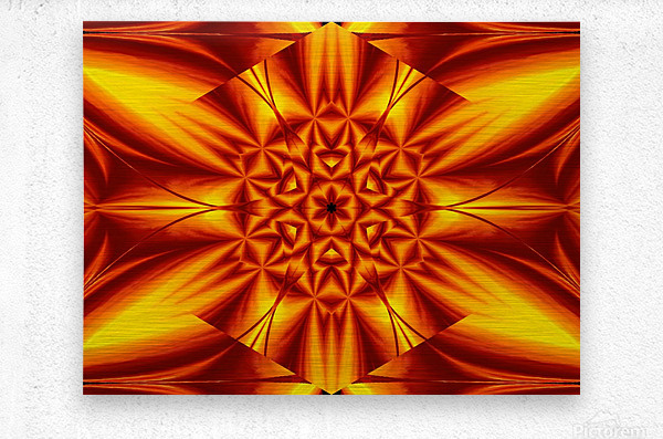 Fire Flowers 104  Metal print