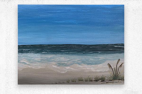 Ocean side  Metal print