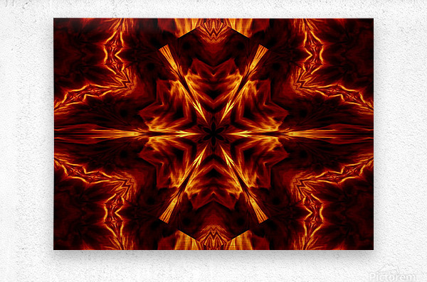 Eternal Flame Flowers 1  Metal print