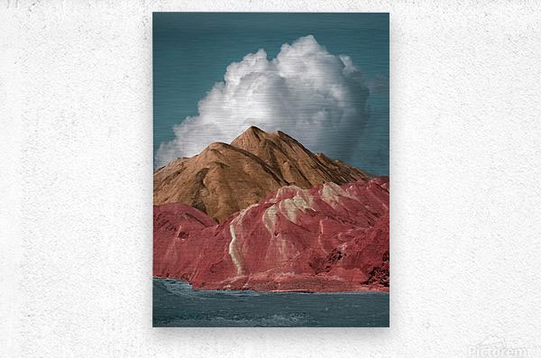 Colorful Danxia  Metal print
